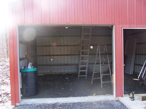 Garage door opened